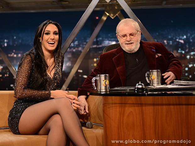 Marina Elali participa do Programa do Jô desta quarta-feira (Foto: TV Globo/Programa do Jô)