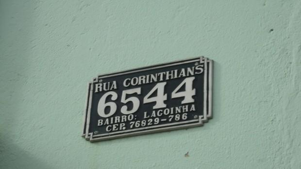 Bairro Lagoinha em Porto Velho tem ruas batizadas com nomes de times (Foto: Larrisa Vieira/GloboEsporte.com)