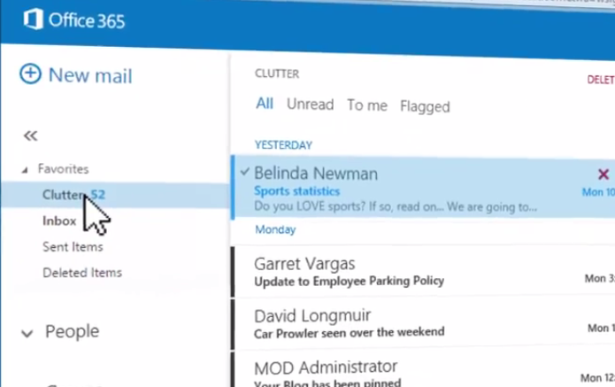 Filtro permite separar e-mails importantes do Outlook (foto: Reprodução/YouTube)