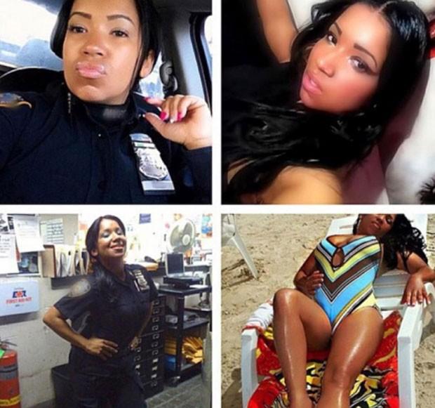Polícia de NY proíbe que agentes publiquem fotos de uniforme nas redes sociais (Foto: Reprodução/ Instagram/Blueline_beauties)