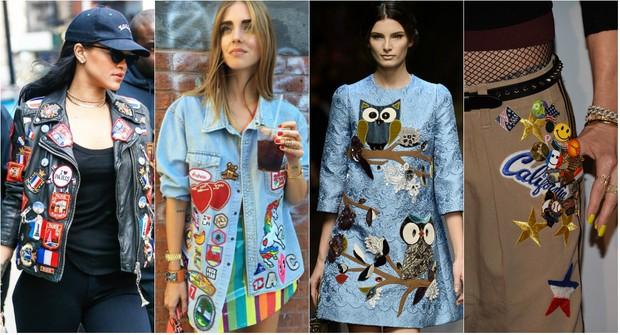 Roupas com patches voltam à moda entre homens e mulher  (Foto: Getty Image e Reprodução do Instagram)