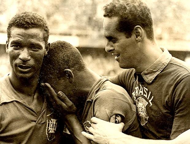pelé didi gilmar brasil suécia 1958 (Foto: Divulgação / CBF)