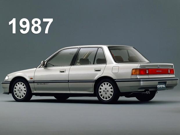 Quarta geração do Honda Civic, de 1987 (Foto: Divulgação)