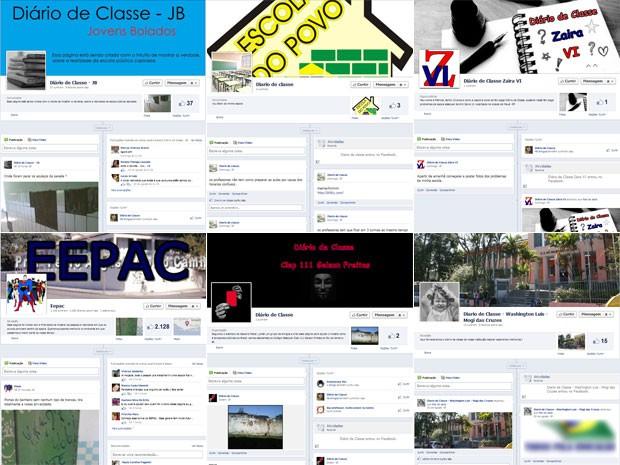 Estudantes de vários estados criaram Diários de Classe no Facebook (Foto: Reprodução/Facebook)