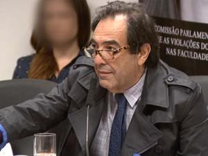 Presidente da CPI das Universidades, Adriano Diogo (PT) durante sessão em Campinas (Foto: Reprodução / EPTV)