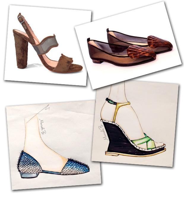 Sandália (R$ 790) e sapatilha (R$ 970), tudo do inverno de sua marca (Foto:  )