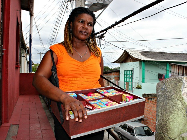 Haitiana em Manaus (Foto: Adneison Severiano G1/AM)