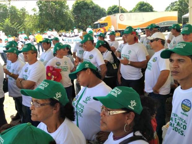 Produtores fazem parte de mobilização nacional (Foto: Leandro J. Nascimento/ G1)
