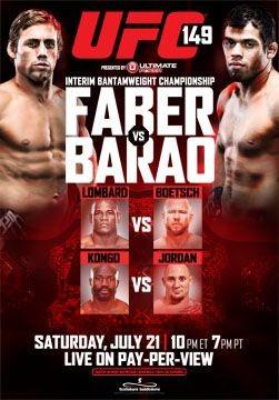 Poster oficial do UFC 149 (Foto: Divulgação UFC)