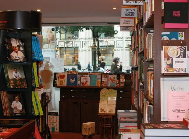A Librairie Gourmande, especializada em livros de gastronomia (Foto: Divulgação)