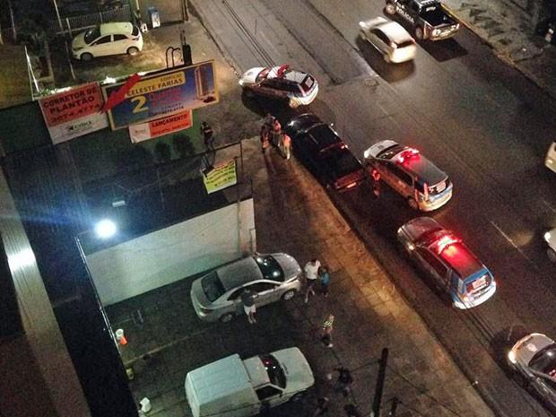 Suspeitos foram detidos por policiais do 6º Batalhão e do Batalhão de Trânsito (BPTran) (Foto: Maurício Guenes/Acervo pessoal)