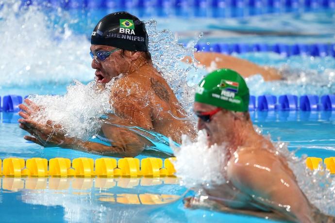 Felipe França semifinal 50m peito Mundial de Kazan (Foto: Satiro Sodré)