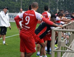 Luis Fabiano grupo jogadores São Paulo treino Muricy (Foto: Site Oficial / saopaulofc.net)