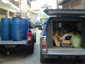 Dorgas apreendidas foram levadas para o DPT (Foto: Divulgação/Polícia Civil)