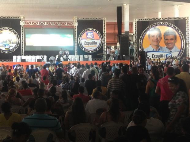 Convenção do PSDB reuniu cerca de 5 mil pessoas na casa de eventos Talismã 21, em Porto Velho (Foto: Suzi Rocha/G1)