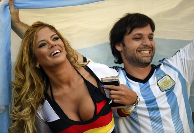 Riquelme alemã faz sucesso com argentinos (Foto: FABRICE COFFRINI / AFP)