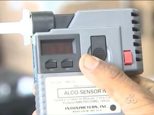 Polícia Militar de RO recebeu novos bafômetros (Foto: Reprodução/TV Rondônia)