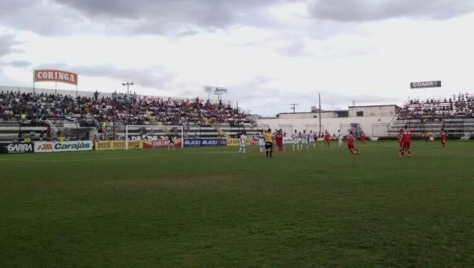 ASA x CRB, no Municipal de Arapiraca (Foto: Caio Lorena/TV Gazeta)