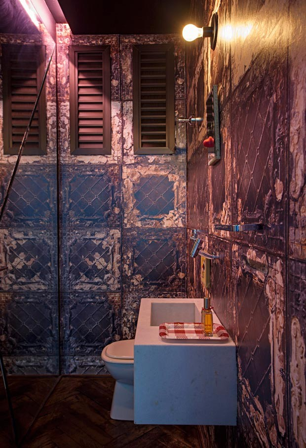 lavabo-papel-de-parede-Lisea-Kasper-Lara-Amaral-EstudioKa (Foto: Gui Morelli/Editora Globo)
