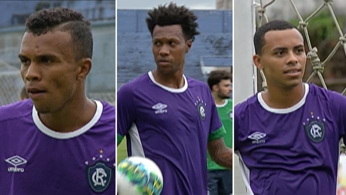 Magno, Brinner e Fernando Júnior treino Remo (Foto: Reprodução/TV Liberal)