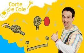 Corte e Cole: Ping Pong de Papelão
