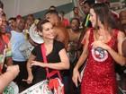Cleo Pires e mais famosos vão a ensaio da Grande Rio