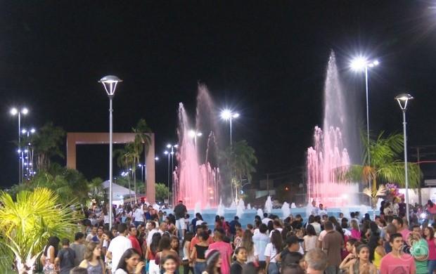 Praça das Águas é reinaugurada em Boa Vista (Foto: Roraima TV)