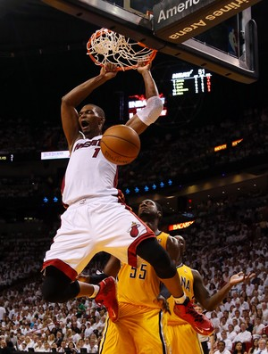 Chris Bosh Indiana Pacers x Miami Heat  (Foto: Getty Images)