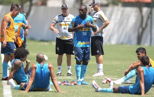 Seedorf dá esporro no treino do Botafogo (Foto: Jorge William / Ag. O Globo)