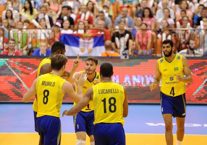 Sérvia x Brasil Liga Mundial de vôlei 2015 (Foto: FIVB)