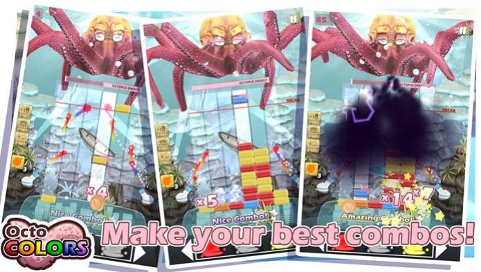 OctoColors é um divertido jogo de combinar. onde você pode mudar as cores dos elementos  (Foto: Divulgação/Google Play)
