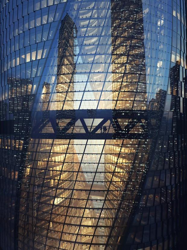 Zaha Hadid Architets constrói átrio retorcido mais alto do mundo (Foto: Divulgação)