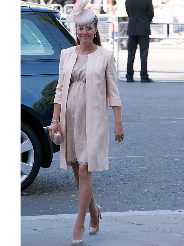 08 Estilo Kate Middleton grávida (Foto: Splash News)