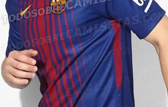 BLOG: Site vaza novas imagens da futura camisa do Barcelona, com listras bem finas