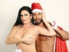 Solange Gomes posa sexy e tira a roupa para Papai Noel sarado