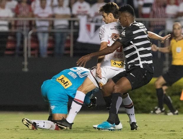 São Paulo x Corinthians - Rodrigo Caio, Jô e Renan Ribeiro