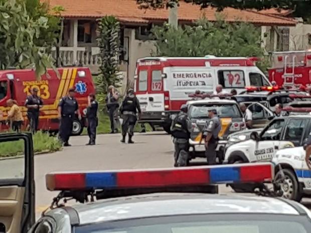 Tiroteio deixou mortos em Itupeva (Foto: Sandro Zeppi/TV TEM)