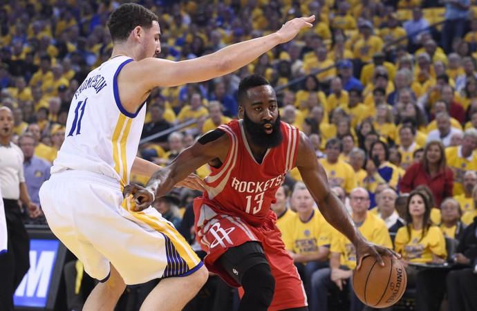 Warriors x Rockets James Harden finais do oeste nba (Foto: Reuters)