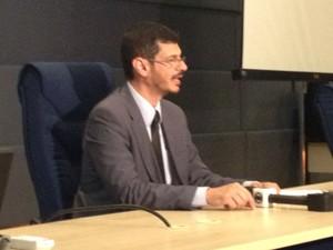 O chefe do escritório brasileiro da Interpol, Luiz Eduardo Navajas (Foto: Mariana Oliveira / G1)