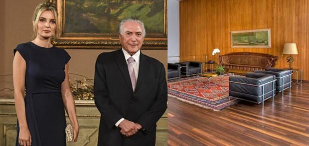 Michel e Marcela Temer mudam decoração do Palácio da Alvorada (Foto: Getty Images (retrato) e divulgação)