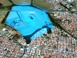 Impermeabilização de área no Santa Felícia pode aumentar alagamentos em São Carlos (Foto: Reprodução/EPTV)