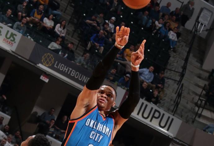 Russel Westbrook Oklahoma City Thunder vs. Indiana Pacers (Foto: Divulgação/OKC)