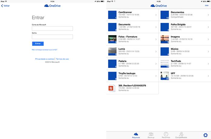 OneDrive também oferece versões para iOS, Android e Widnows Phone com usabilidade semelhante ao navegador (Foto: Reprodução/Elson de Souza)