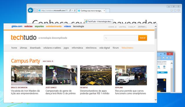 Confira o Internet Explorer 11, o navegador veloz e sem limite de abas