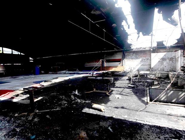 incêndio ginásio Flamengo (Foto: Fernando Azevedo / Fla Imagem)