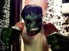 Mais forte, Fiuk se diverte com máscara do Hulk em rede social