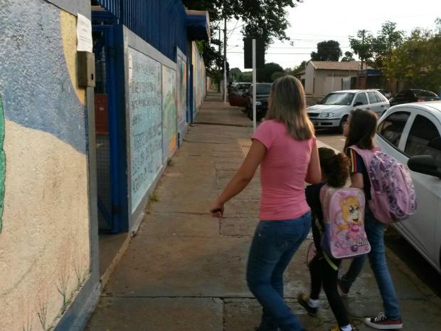 Escolas municipais da capital de MS voltam às aulas após 77 dias de greve (Foto: Danielly Escher/ TV Morena)