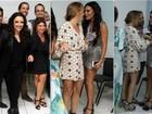 Leticia Lima evita fotos com Ana Carolina em camarim após show