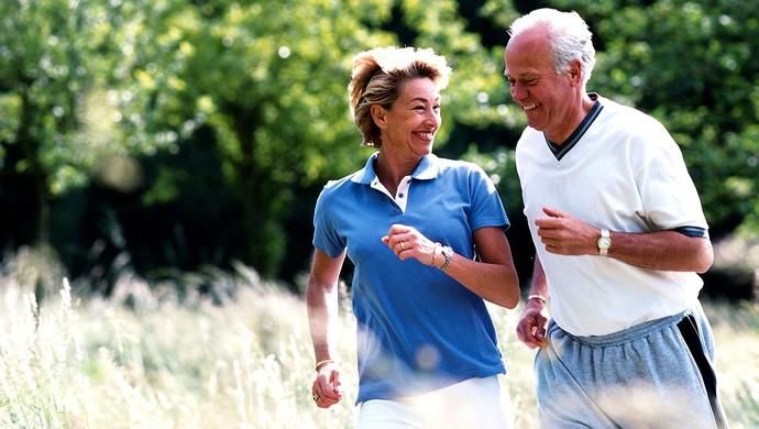 idosos correndo eu atleta (Foto: Agência Getty Images)