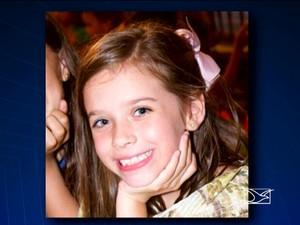 Laura Marão, 8, está internada no UDI Hospital, em São Luís (MA) (Foto: Reprodução / TV Mirante)